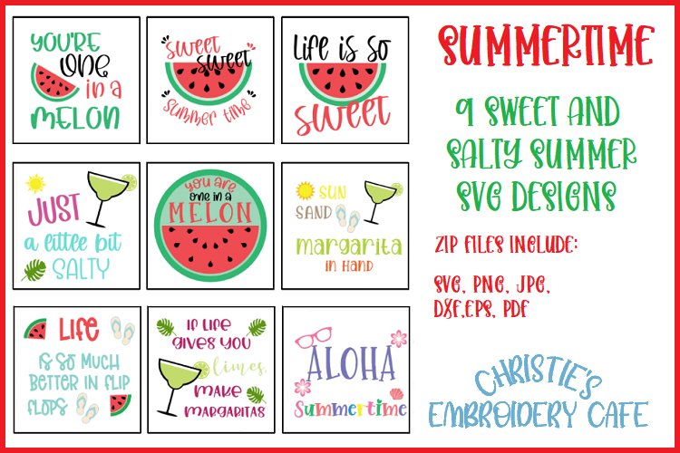 9 SWEET AND SALTY SUMMER SVG DESIGNS