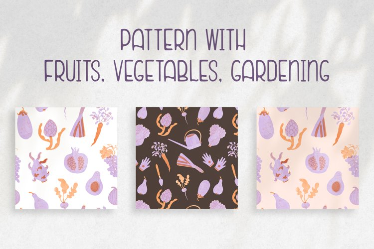Pattern with fruits & vegetables