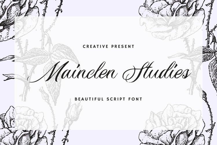Web Font Mainclen Studies Font example image 1