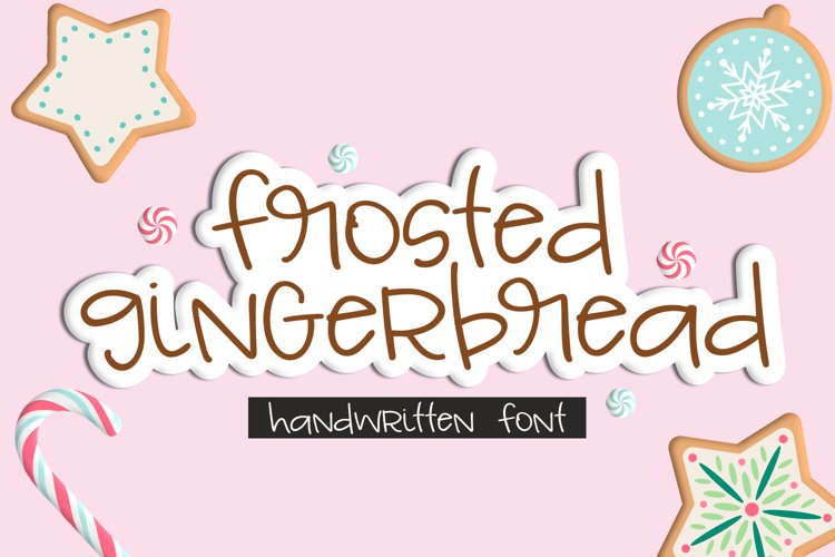 Frosted Gingerbread Handwritten Font example image 1