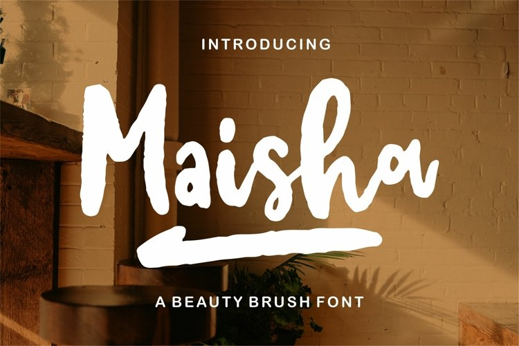 Maisha - A Beauty Brush Font example image 1