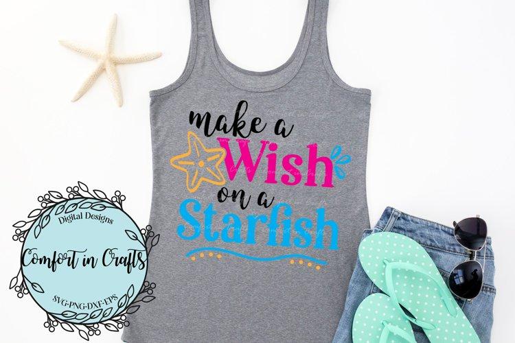 Make a Wish on a Starfish SVG