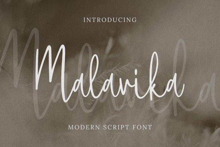 Web Font Malavika example image 1