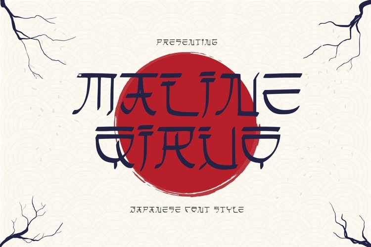 Web Font Maline Qiruo Font example image 1