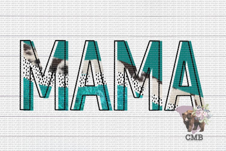 Mama Cowhide Abstract PNG File / Sublimation Clipart File