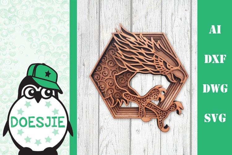 Layered eagle Multi layer mandala eagle 3d SVG 4th of July example image 1