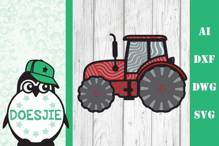 Tractor farmhouse 3d svg model multi layer mandala layered example image 1