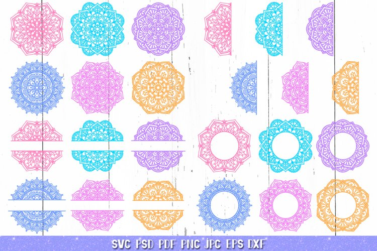 Mandala SVG,Mandala Monogram,Flower Mandala Bundle,Zentangle