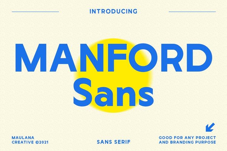 Manford Sans Font example image 1