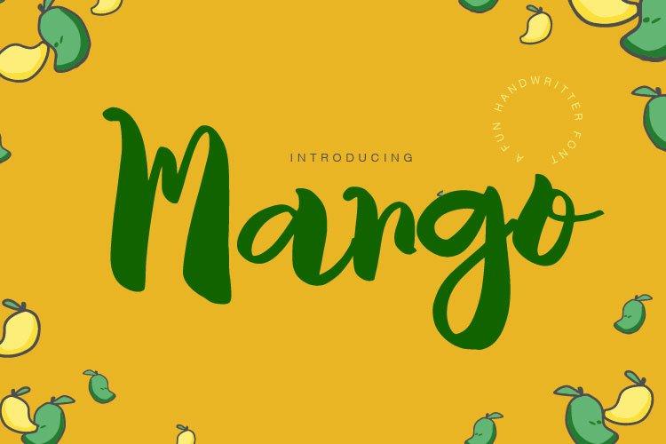Mango fun display font example image 1
