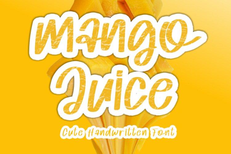 Mango Juice - Cute Handwritten Font example image 1