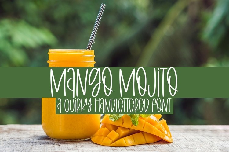 Web Font Mango Mojito - A Quirky Handlettered Font example image 1