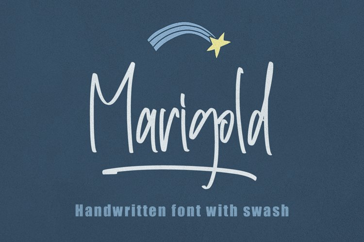 Marigold - Handwritten with Swash example image 1