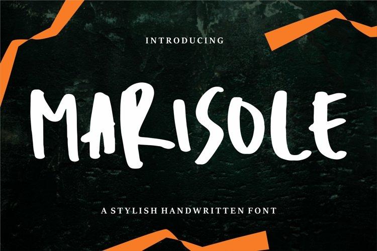 Marisole - A Stylish Handwritten Font example image 1