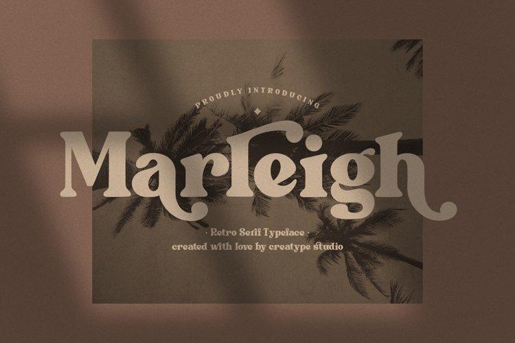 Marleigh Retro Serif example image 1