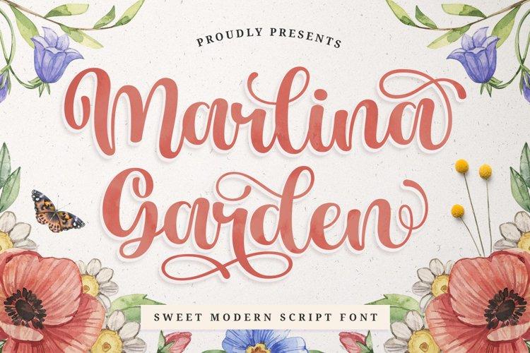 Love Swash Script Font - Marlina Garden example image 1