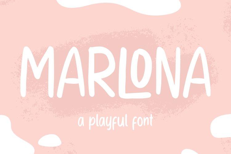 MARLONA - Playful Handwritten Font example image 1