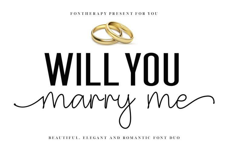 NEW ! Will You Marry Me - Font Duo example image 1
