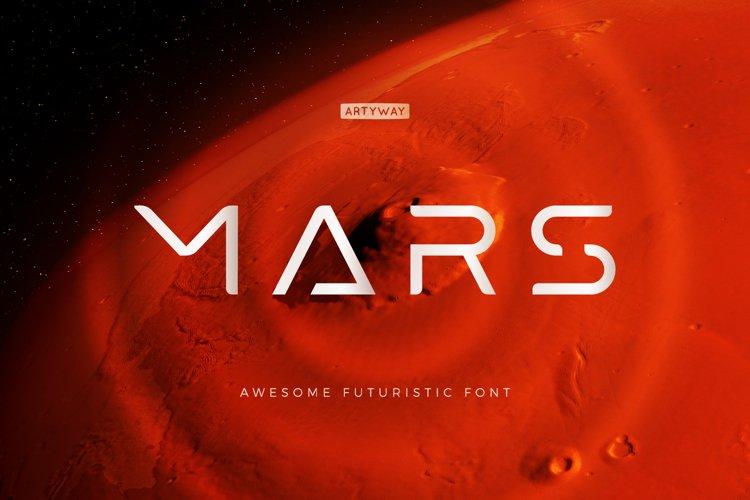 Futuristic Mars Font