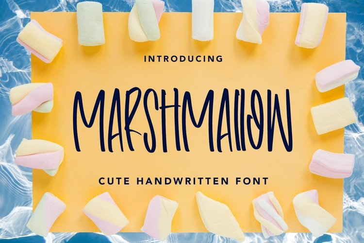 Web Font Marshmallow - Cute Handwritten Font example image 1