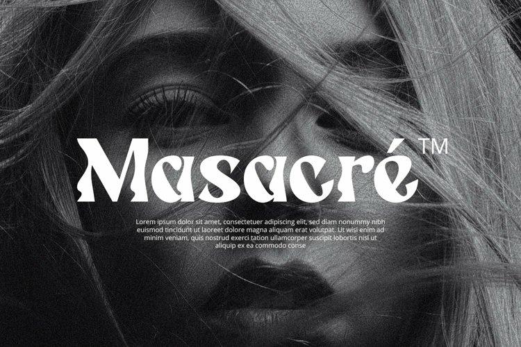 Web Font Massey example image 1
