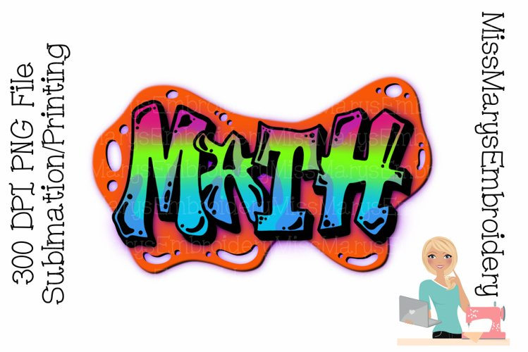 Math Bubble Sublimation Design  Sublimation PNG  Graffiti