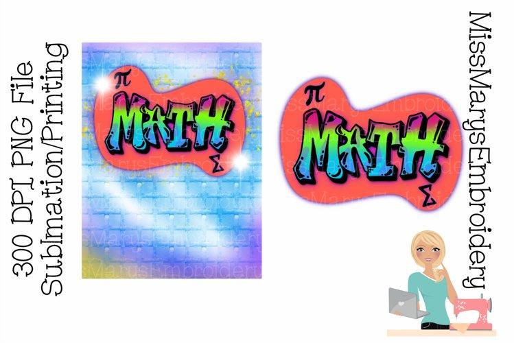 Two Math Sublimation Designs  Sublimation PNG  Graffiti File