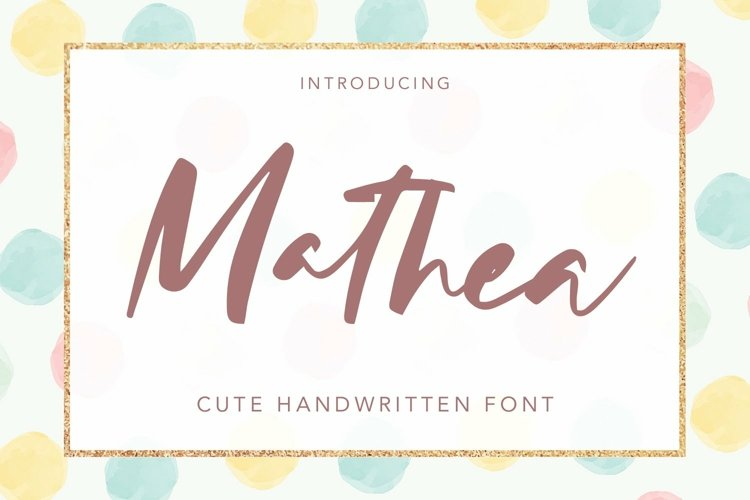 Web Font Mathea - Cute Handwritten Font example image 1