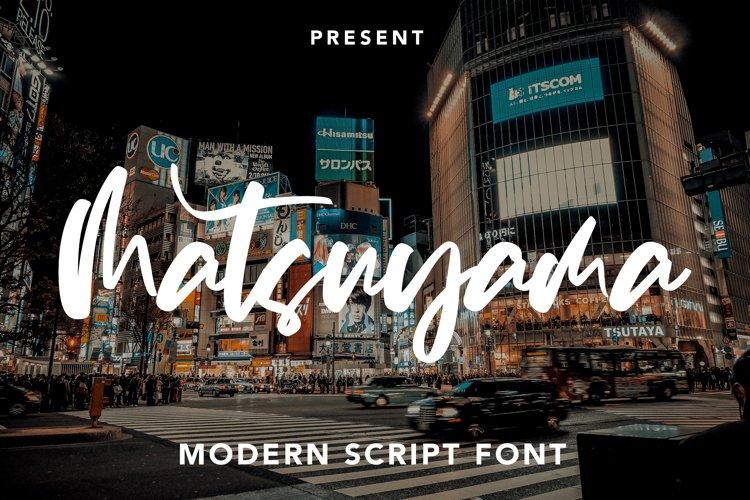 Matsuyama - Modern Script Font example image 1