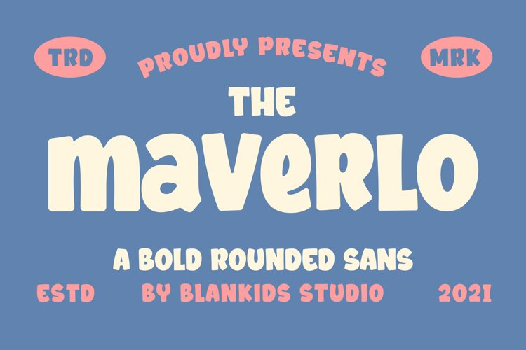 Maverlo a Bold Rounded Sans Font