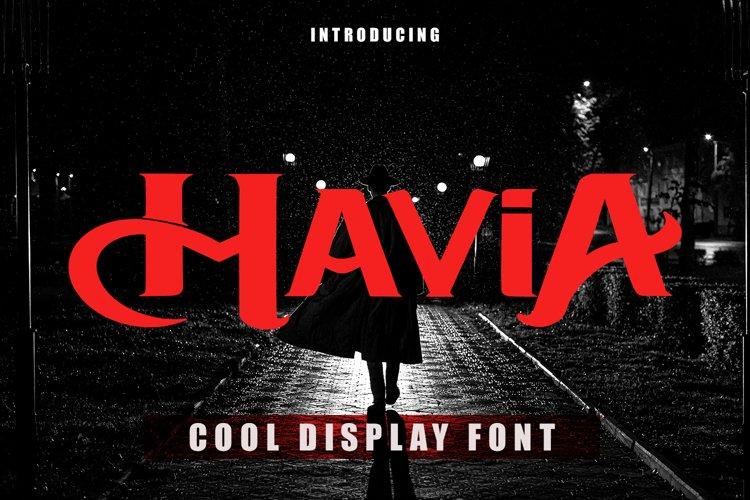 Mavia - Cool Display Font example image 1