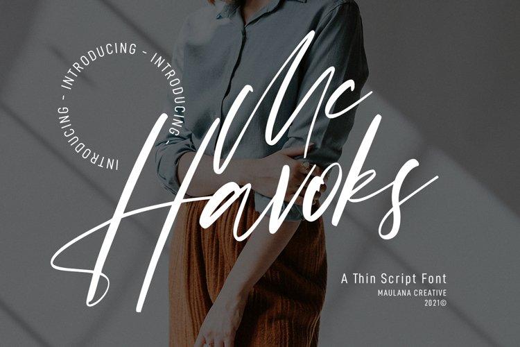 Mc Havoks Super Casual Signature Font