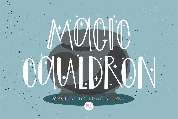 MAGIC CAULDRON Halloween Witch Font example image 1