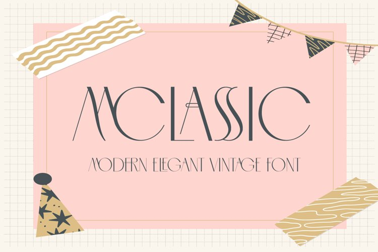 MCLASSIC FONT example image 1