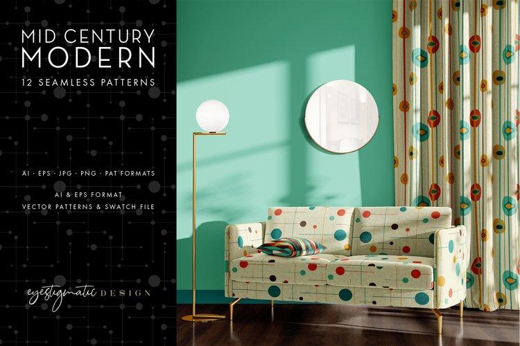12 Seamless Mid Century Modern Patterns - Set 3