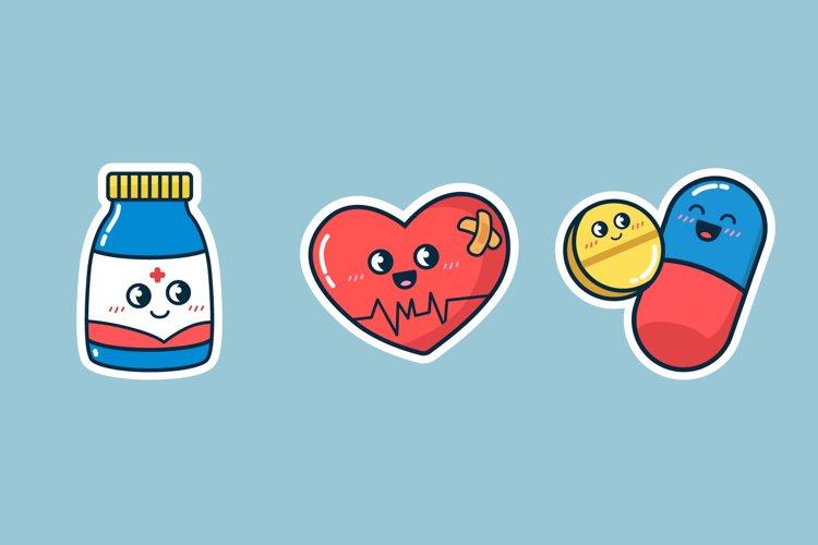 Medicine Sticker Illustrations