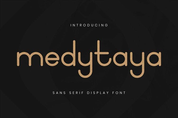 Web Font Medytaya Font example image 1