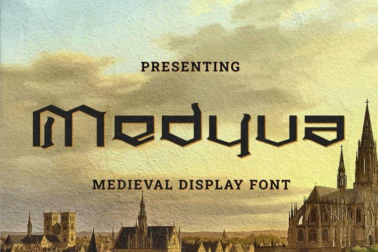 Web Font Medyva example image 1