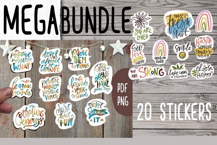 MEGA bundle positive stickers