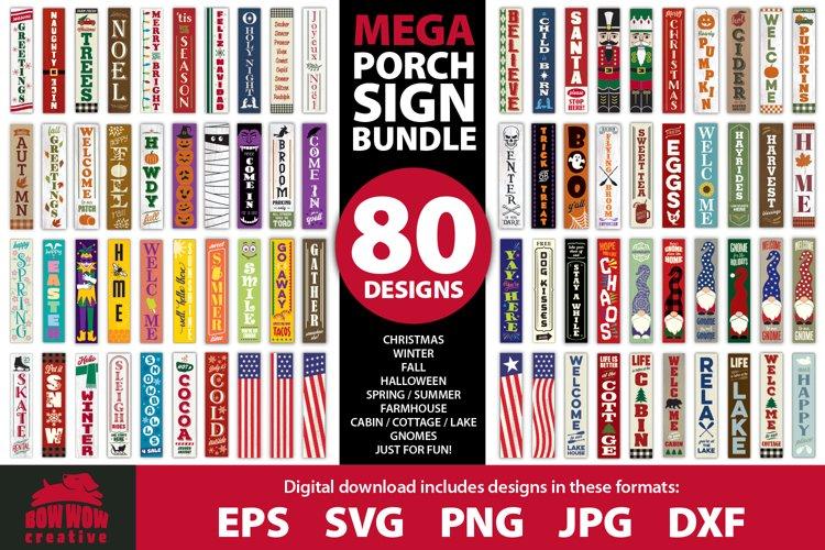 MEGA PORCH SIGN BUNDLE - 80 seasonal & fun designs
