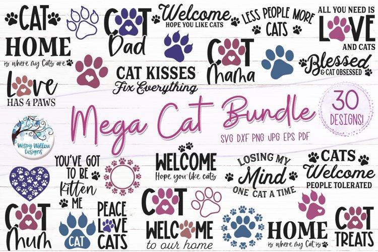 Mega Cat SVG Bundle | 30 Cat SVGs