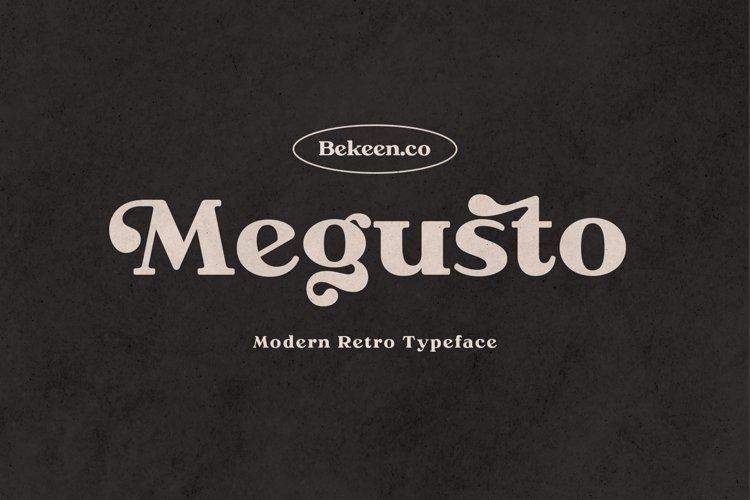 Megusto - Modern Retro Typeface example image 1
