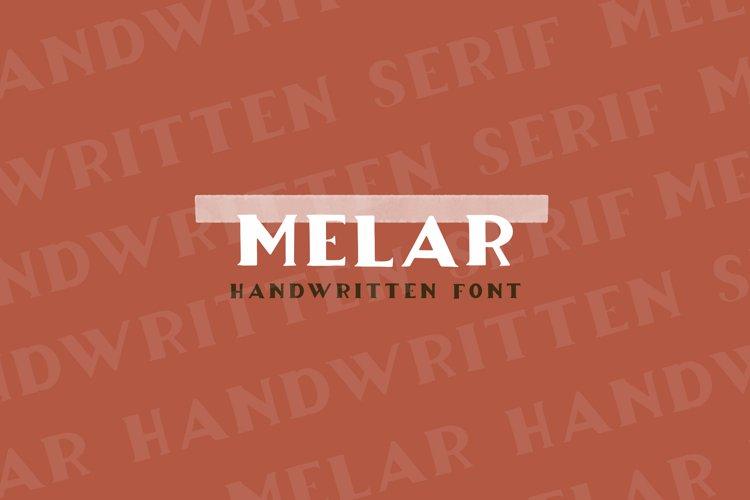 Melar - a hand drawn serif font example image 1