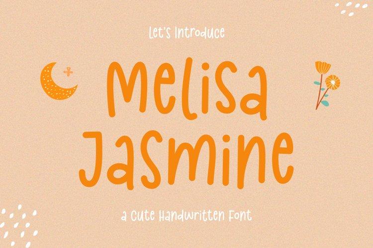 Cute Handwritten Font - Melisa Jasmine example image 1