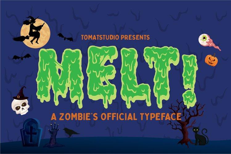 Zombie Fonts   Melt! example image 1