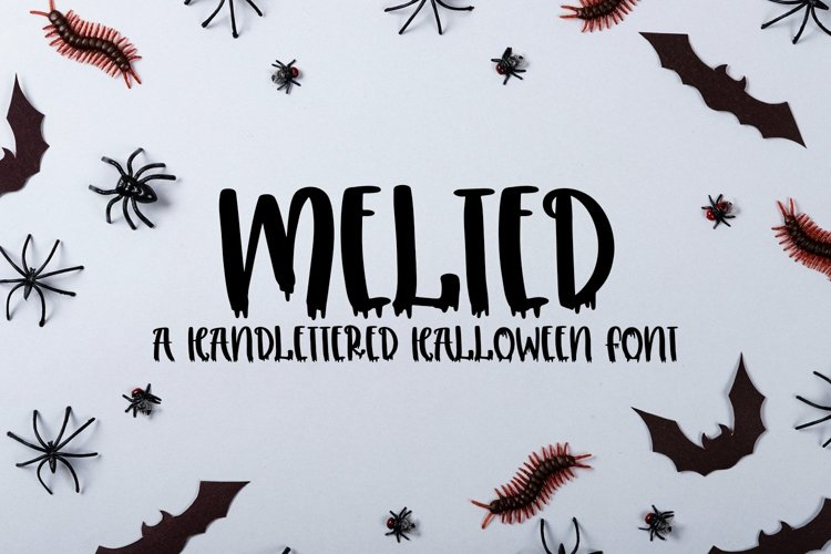 Web Font Melted - A Handlettered Halloween Font example image 1