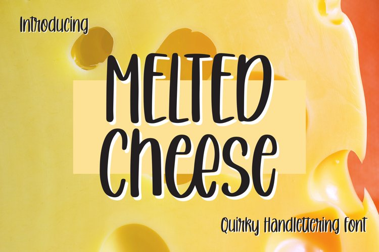 Melted Cheese - Quirky Handlettering Font example image 1
