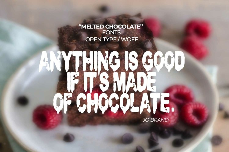 Melted Chocolate Font | Open Type & Woff example image 1