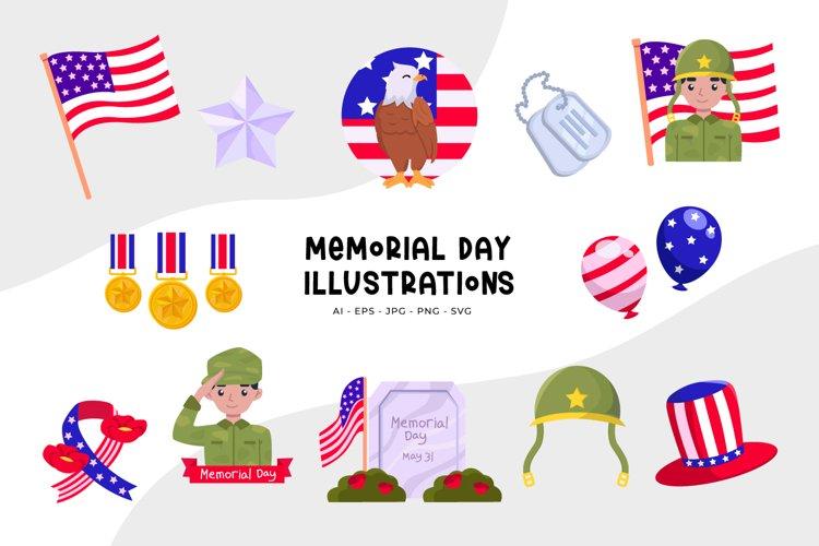 Memorial Day Illustrations