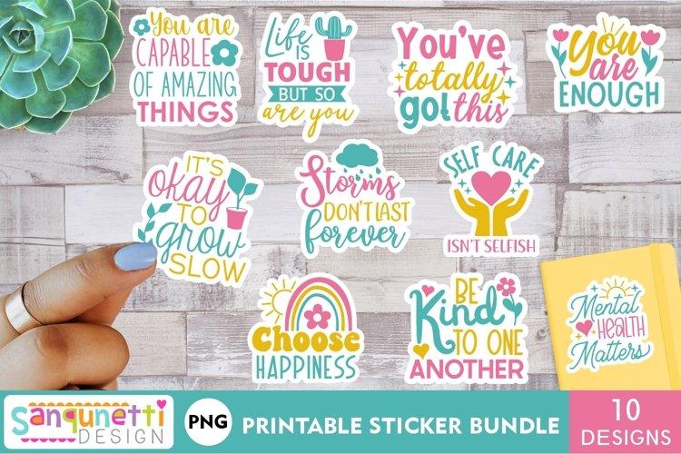 Mental Health Inspirational sticker bundle